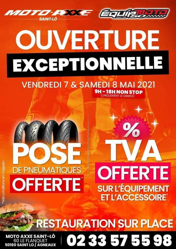 TVA offerte sur les équipements et accessoires moto - Equip'moto Agneaux (50)