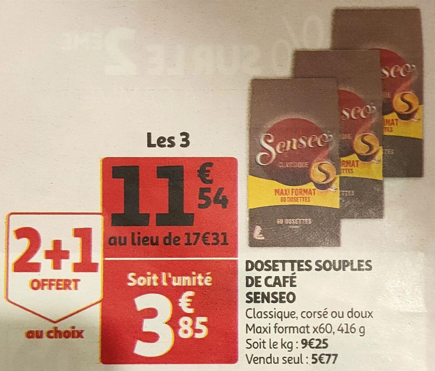 Dosettes souples café Senseo - 3 x 60 dosettes