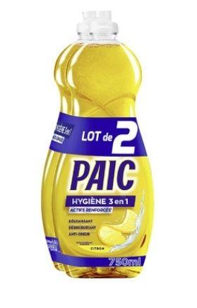Sélection de produits en promotion - Ex : Lot de 2 liquides vaisselle Paic
