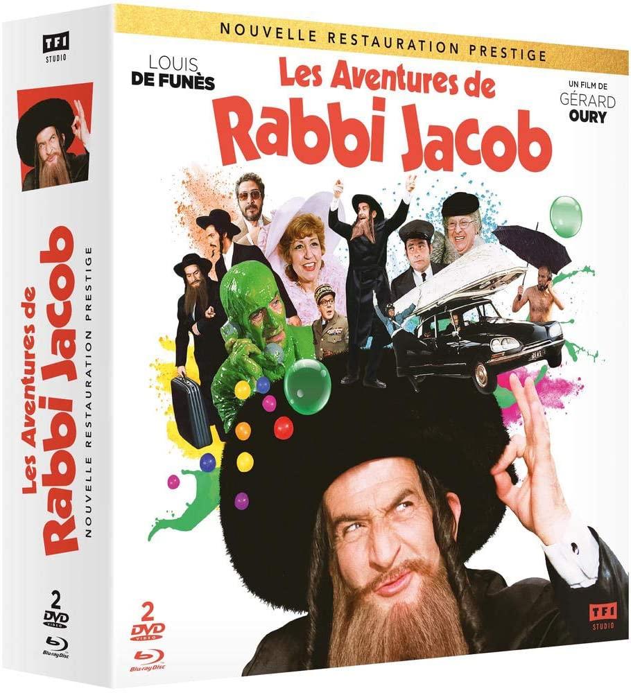 Coffret Blu-Ray Les Aventures de Rabbi Jacob Édition Prestige + DVD + Livret exclusif de 80 pages