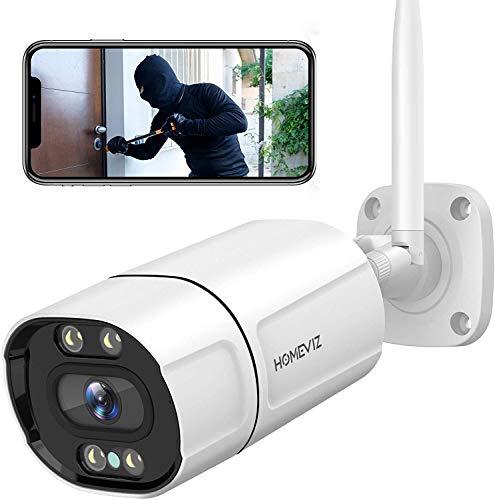 Caméra de Surveillance Extérieure Homeviz 2K - 3MP, WiFi, Vision Nocturne (Via Coupon - Vendeur tiers)