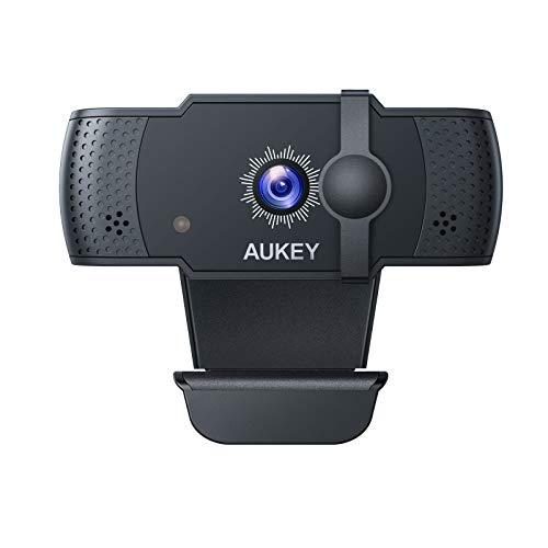 Webcam Aukey - 1080p Full HD, Noir (via coupon - vendeur tiers)