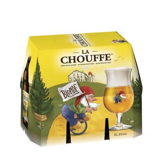 Sélection de bières ex: Pack de 6 bières La Chouffe - 6 x 33 cl