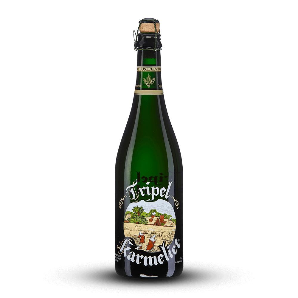 Lot de 3 bouteilles de bière blonde belge Tripel Karmeliet ou ambrée Kwak - 3x75 cl