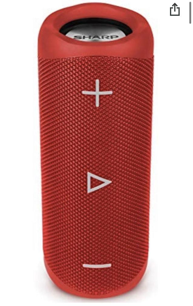 Enceinte sans fil Bluetooth Sharp GX-BT280(RD) - 20 W, Rouge