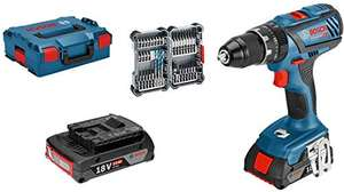 Perceuse-visseuse à percussion sans Fil Bosch Professional GSB 18V-28 + 2x Batteries 2.0 Ah + L-Boxx + 35 Accessoires