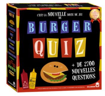 2 jeux de société Dujardin Burger Quiz (via 11.34€ sur la carte fidélité + 18.90€ d'ODR) Géant Casino drive