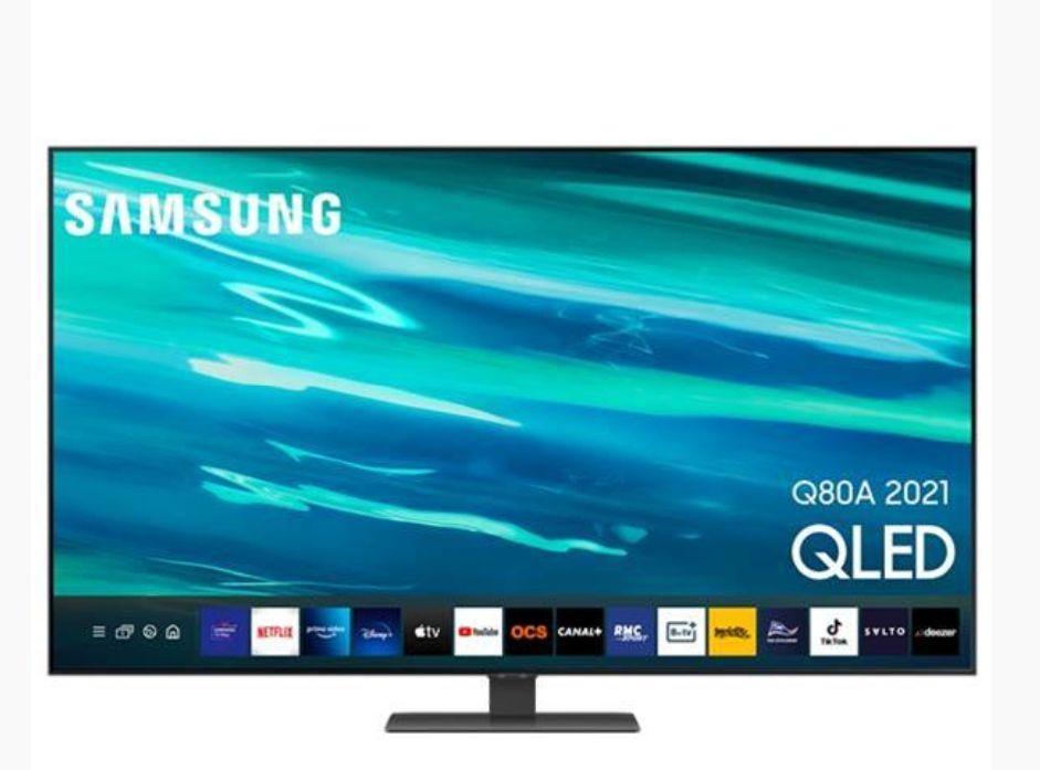 """TV QLED 65"""" Samsung QE65Q80A - 4K UHD, 100 Hz, Quantum HDR 1500, Smart TV (Via 200€ d'ODR)"""