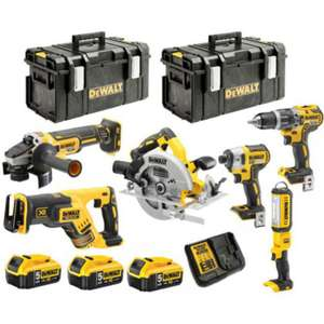 Pack de 6 outils électroportatifs Dewalt 18V Li-Ion DCK623P3
