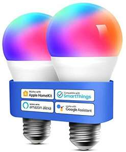 Lot de 2 ampoules connectées LED E27 Meross RGB - 2700-6500K, compatible assistants vocaux (Via coupon - Vendeur tiers)
