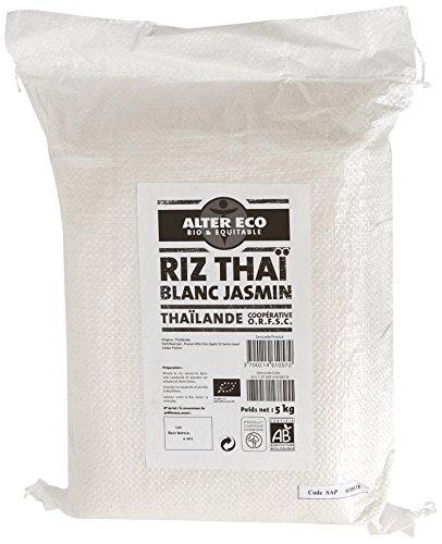 Riz Thaï Bio & Équitable Alter Eco - Prêt en 15 min, Origine Thaïlande - 5kg (14,54€ pour une 1ère commande)