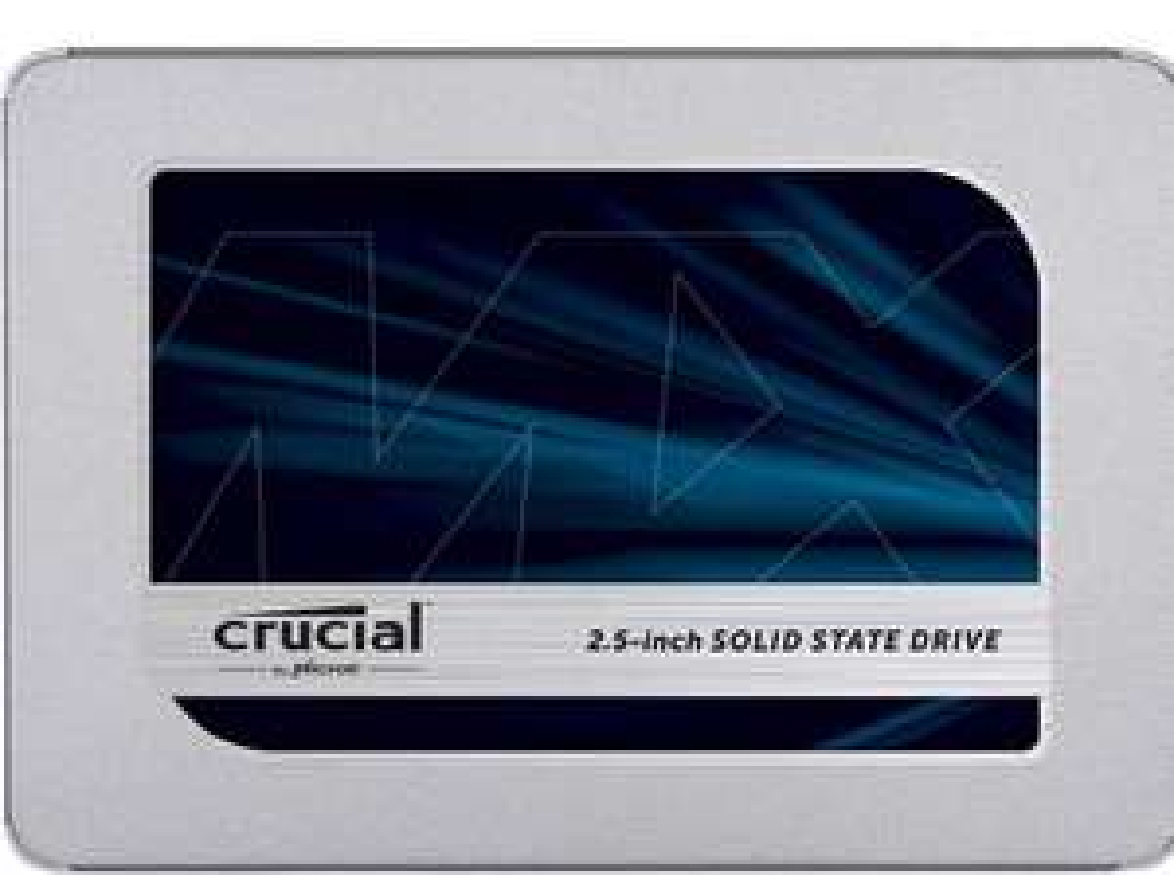"SSD interne 2.5"" Crucial MX500 (CT500MX500SSD1) - 500 Go, TLC 3D, DRAM - (40,37€ via code GESCHENK5E25*)"