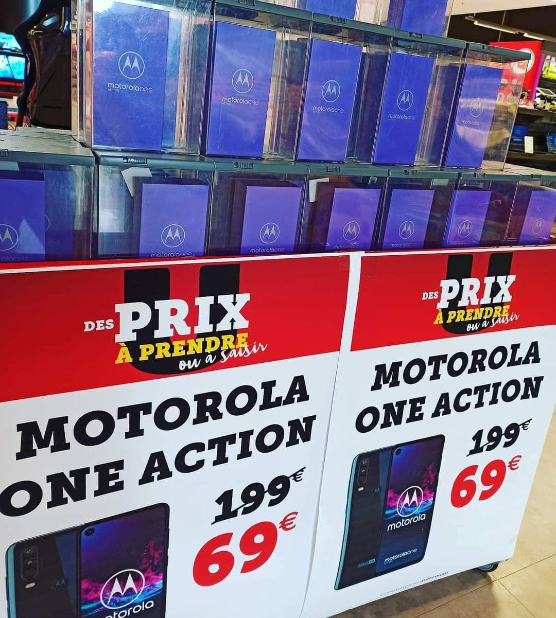 """Smartphone 6.3"""" Motorola One Action - 128Go, 4Go de Ram - Hyper U Châteaugiron (35)"""