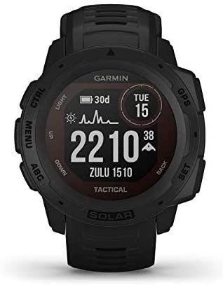 Montre connectée GPS Garmin Instinct Solar - Noir (Expédié par Bijourama)