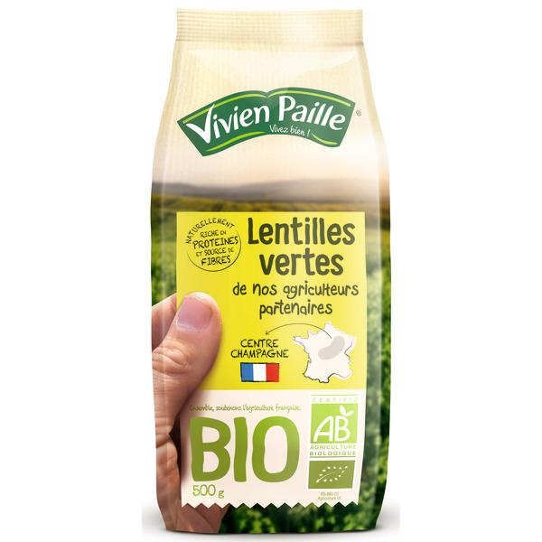 Lentilles vertes ou pois chiches Vivien Paille - 500G