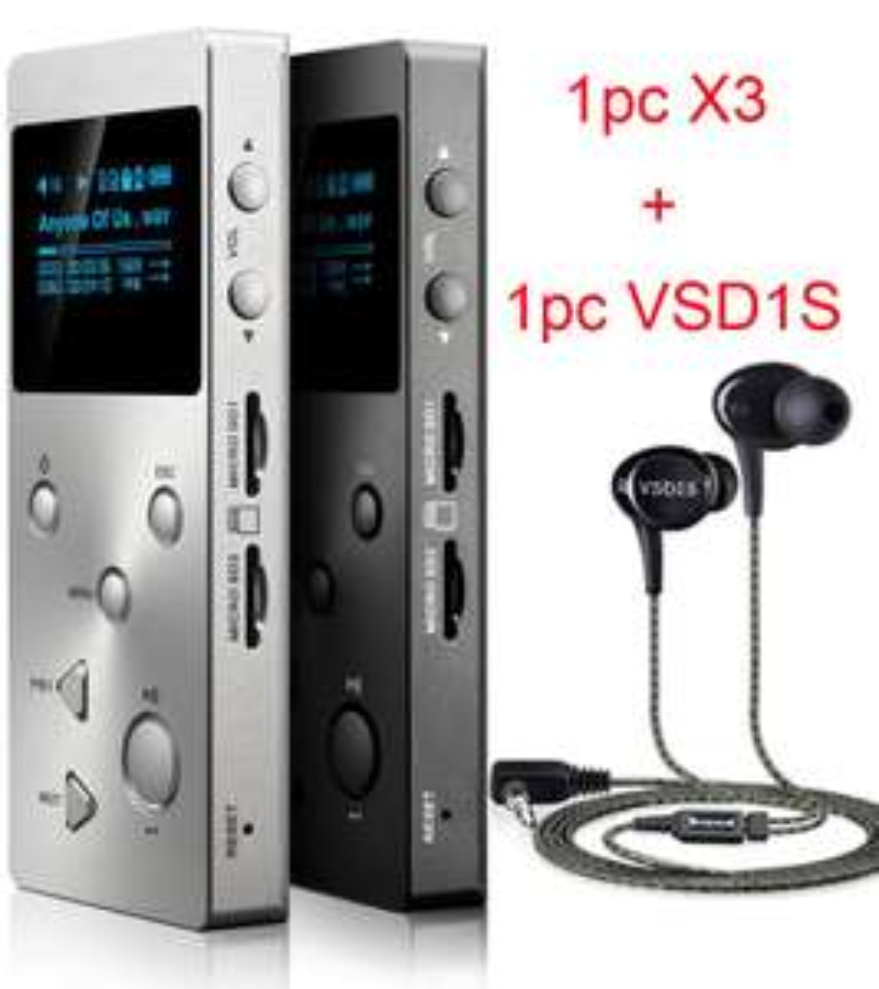 Baladeur numérique Xduoo X3 Hifi + écouteurs intra-auriculaires Vsonic VSD1S