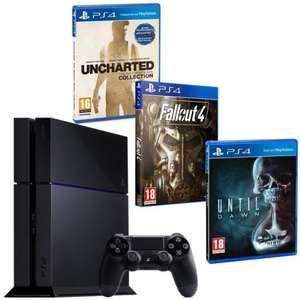Console Sony PS4 500 Go + Uncharted: Collection + Fallout 4 + Until Dawn + PlayStation Plus 3 mois