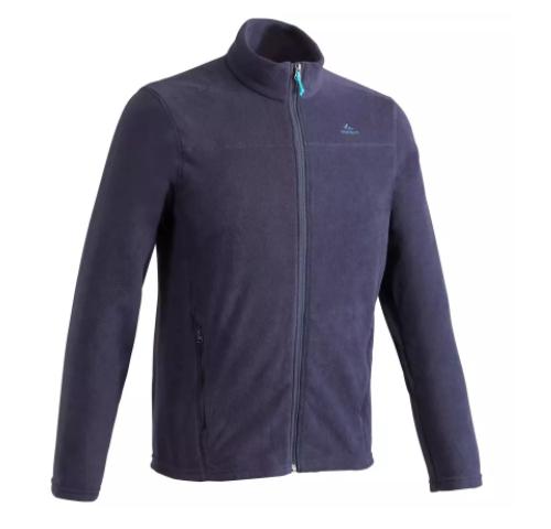 Veste Polaire de randonnée montagne Quechua MH120 pour Homme ou Femme - Bleu noir / Vert (Plusieurs tailles)