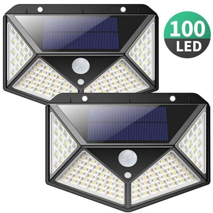 4 Lampes solaires d'extérieur - 100 LED, Détecteur de Mouvement (Vendeur tiers)