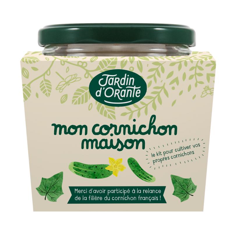 Kit de cornichon(Graines + Palets de terre de coco Bocal + Graines de moutarde + Estragon + Bocal) - jardindorante.fr (Frais de port inclus)