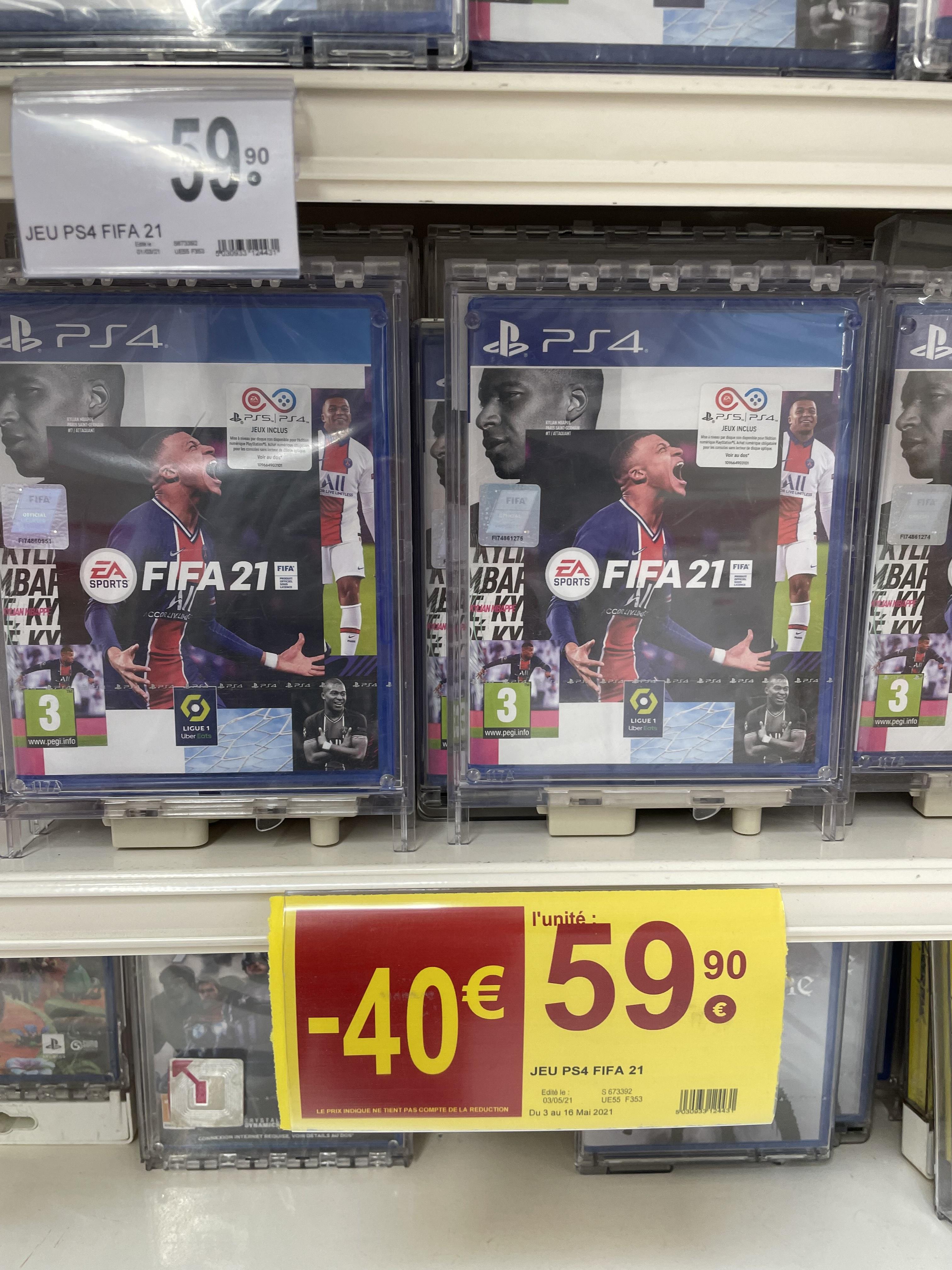 FIFA 21 sur PS4 et Xbox One (Niort 79).
