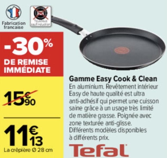 Crépière Tefal Easy Cook & Clean - 28 cm