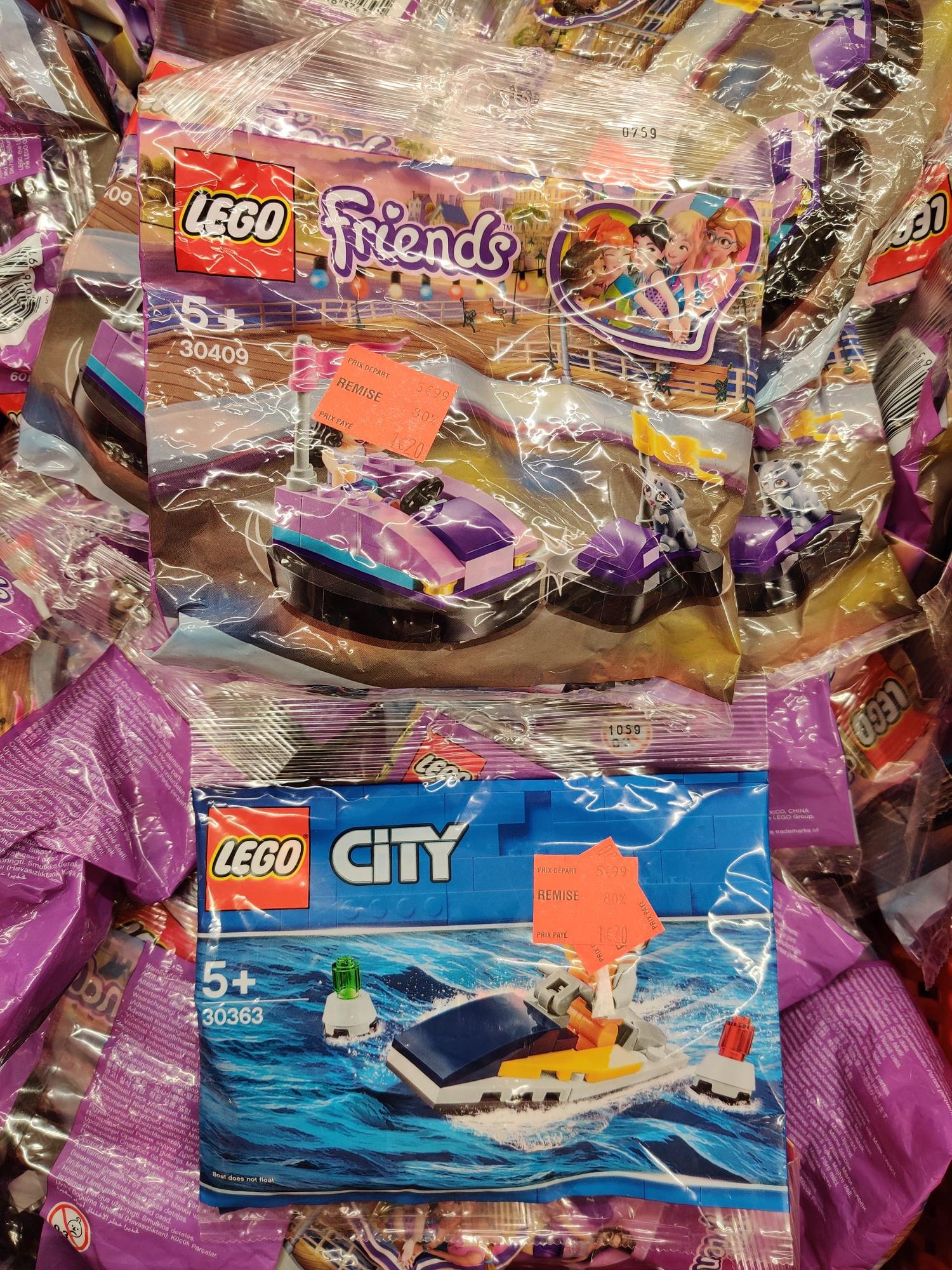Jouet Lego City Polybag Race Boat (30363) ou Friends L'auto-tamponneuse (30409) - Chelles (77) / Saran (45)