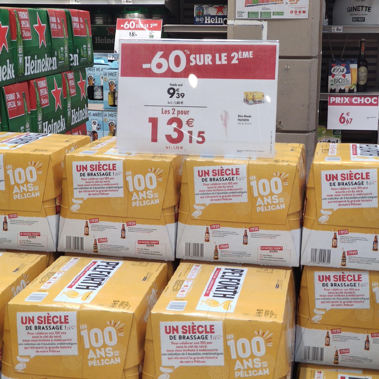 2 Packs de Bières blondes Pelforth - 20x25cl (Francheville 69)
