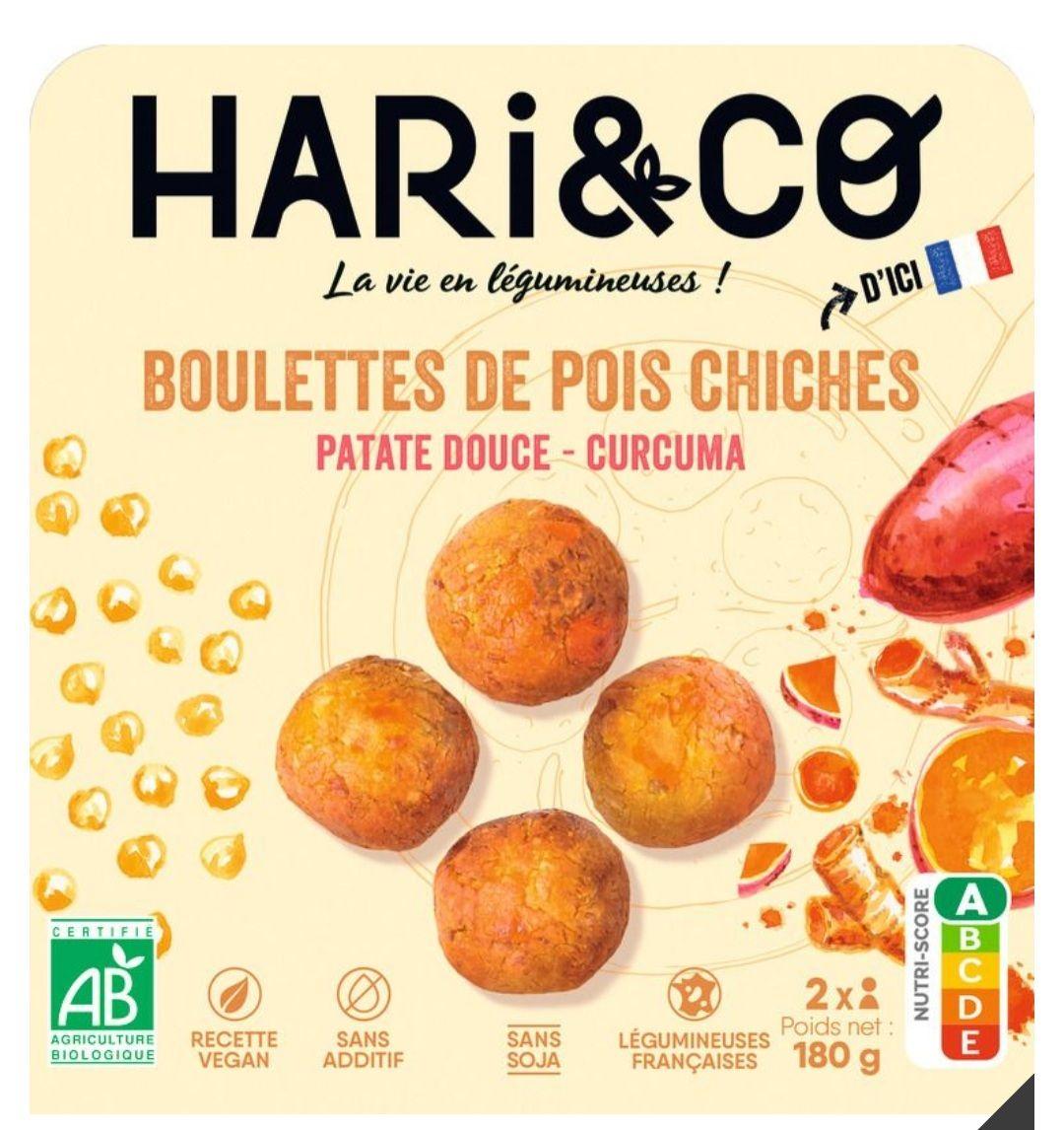 Hari&co Végétale bio (divers variété - 180g) - Ex : Boulettes Pois chiche Patate Douce et Curcuma (via Shopmium)