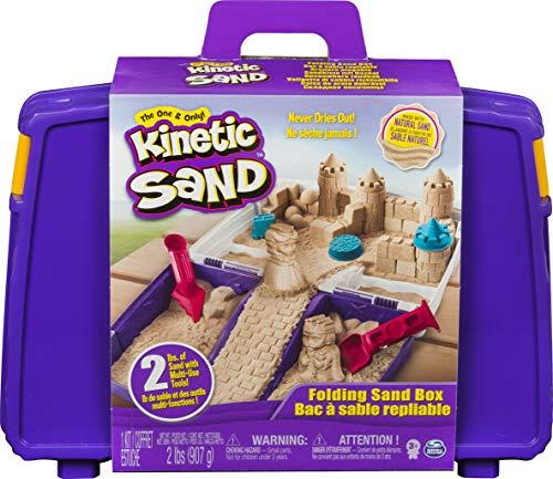 Mallette d'activités Château de sable cinétique à modeler Kinetic Sand (900 g + 5 accessoires)