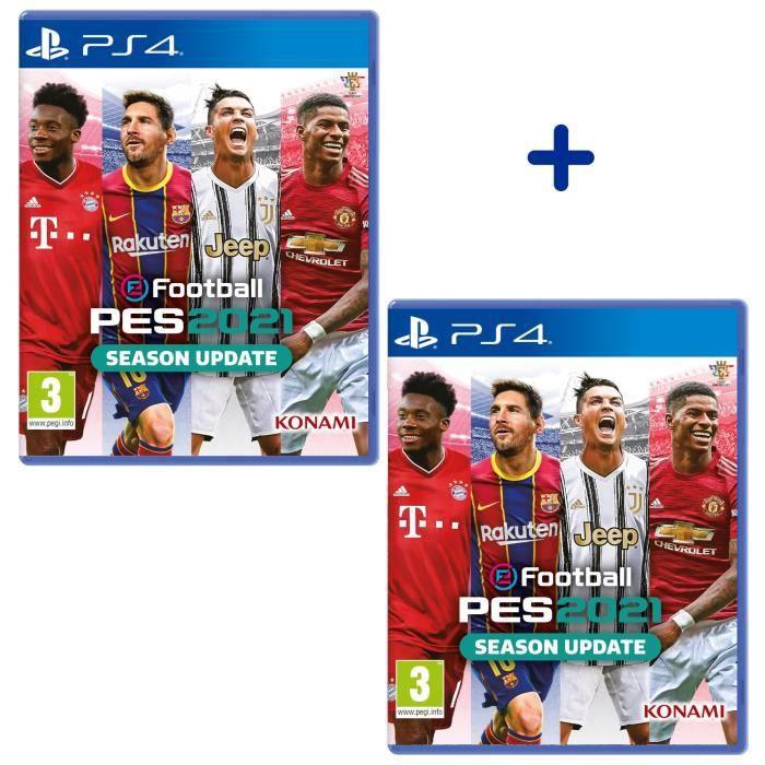 Lot de 2 Jeux eFootball PES 2021 sur PS4