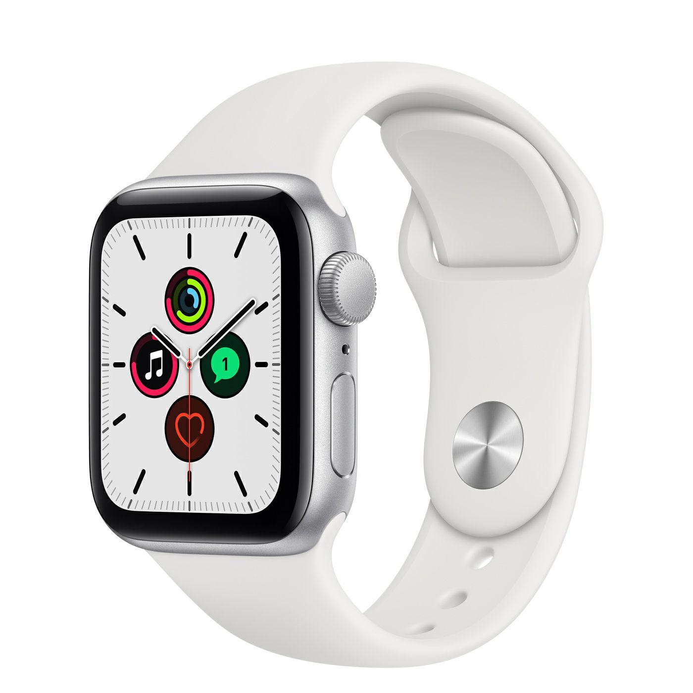 Montre connectée Apple Watch SE GPS - 40 mm, Bracelet Sport, Argent