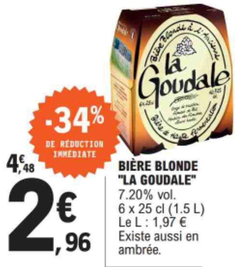 Pack de 6 Bières Blondes La Goudale - 6 x 25 cl (ou Ambrées)
