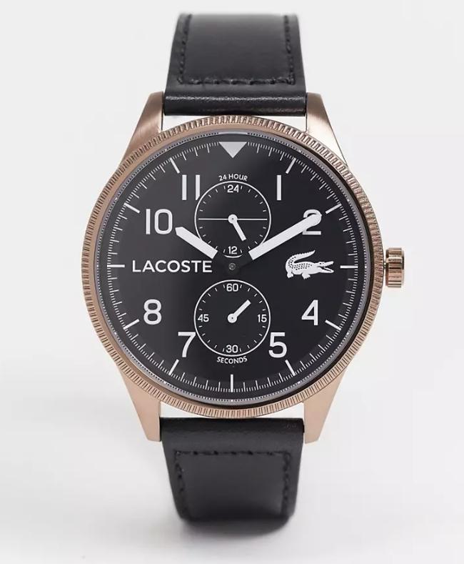 Montre à quartz Lacoste Continental - bracelet en cuir