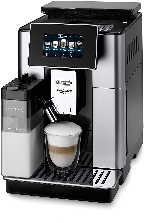 Machine à expresso avec broyeur de café De'Longhi Primadonna Soul ECAM612.55.SB