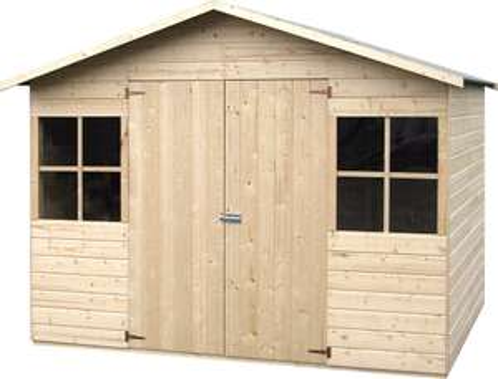 Abri de jardin bois Lopun D&J - Sapin 12mm, 4.86m2