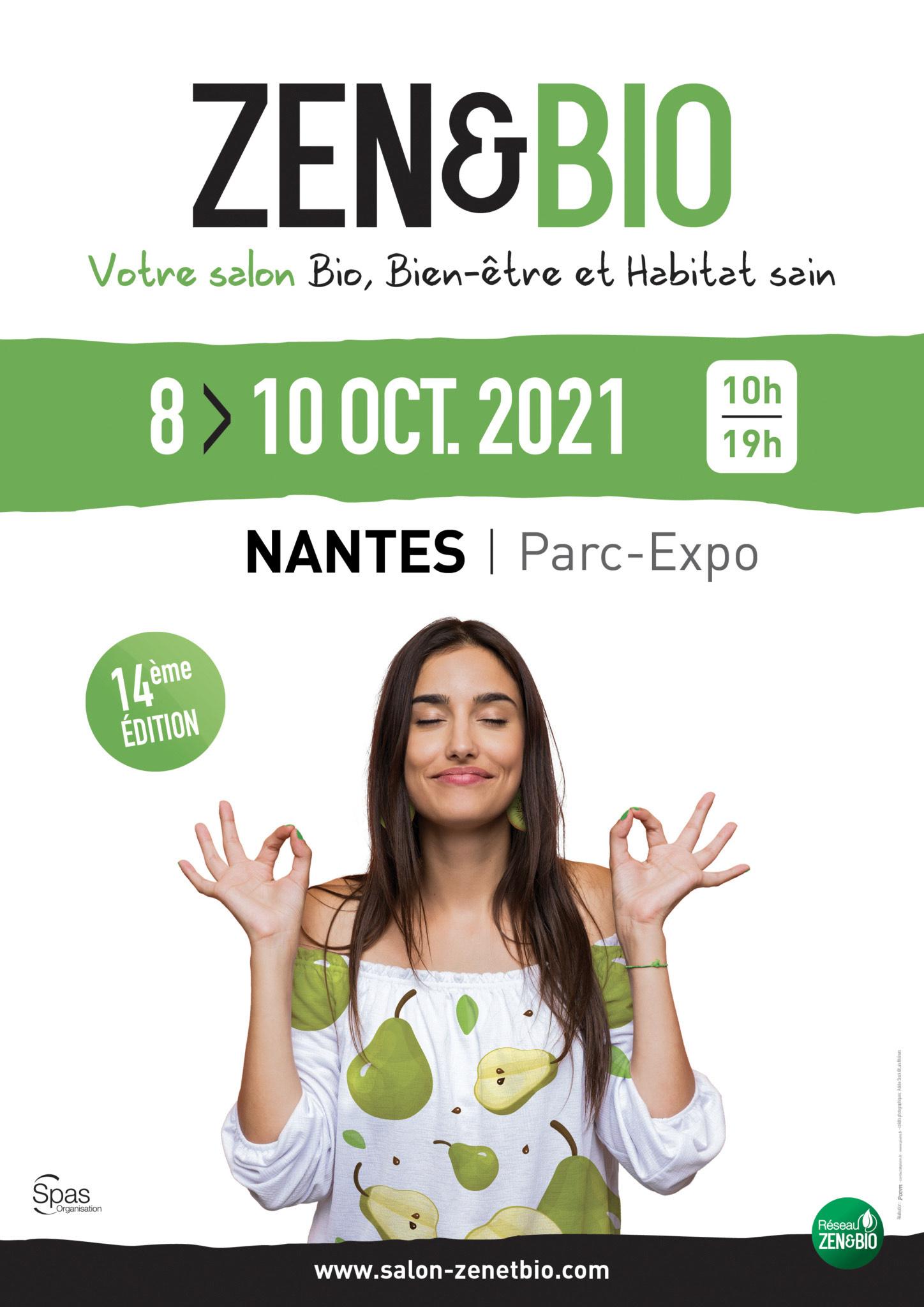 Entrée Gratuite pour tous au Salon Zen&Bio - Nantes Parc des expositions de la Beaujoire (44)