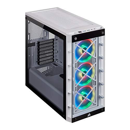 Boitier PC Corsair iCUE 465X RGB moyen tour avec 3 ventilateurs LL120 RGB