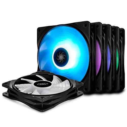 Lot de 5 Ventilateurs PC Deep Cool RF120M 5IN1 RGB LED PWM (Via Coupon - Vendeurs Tiers)