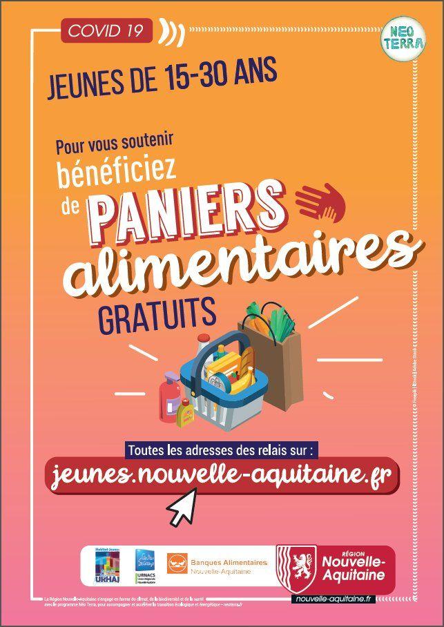 [Jeunes 15/30 ans] Distributions Gratuites de Colis Alimentaires + Kits d'Hygiène - Nouvelle Aquitaine