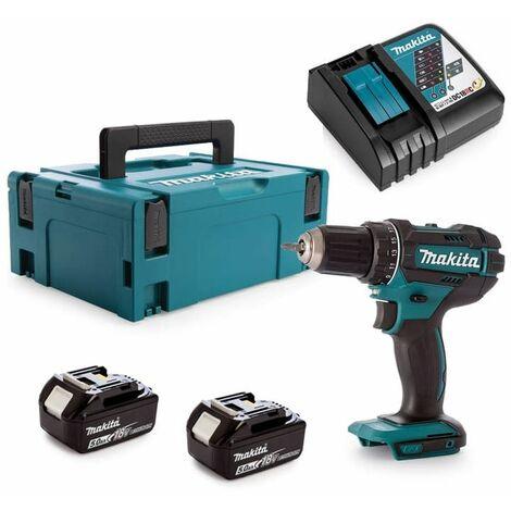 Perceuse visseuse sans fil Makita DDF 482 RFJ + 2 batteries 3ah, chargeur et Makpac