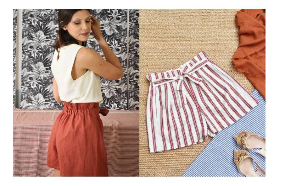 Patron de couture PDF + Tuto vidéo Mon Short Paperbag Tivoli gratuit (Dématérialisé - artesane.com)