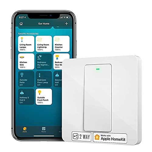 Interrupteur va-et-vient connecté Meross MSS550XHK - Compatible Apple HomeKit, Siri, Alexa, Google Home, SmartThings (Vendeur Tiers)