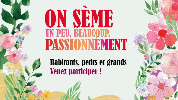 Distribution de 10 000 sachets de graines de fleurs sauvages - Lyon (69)