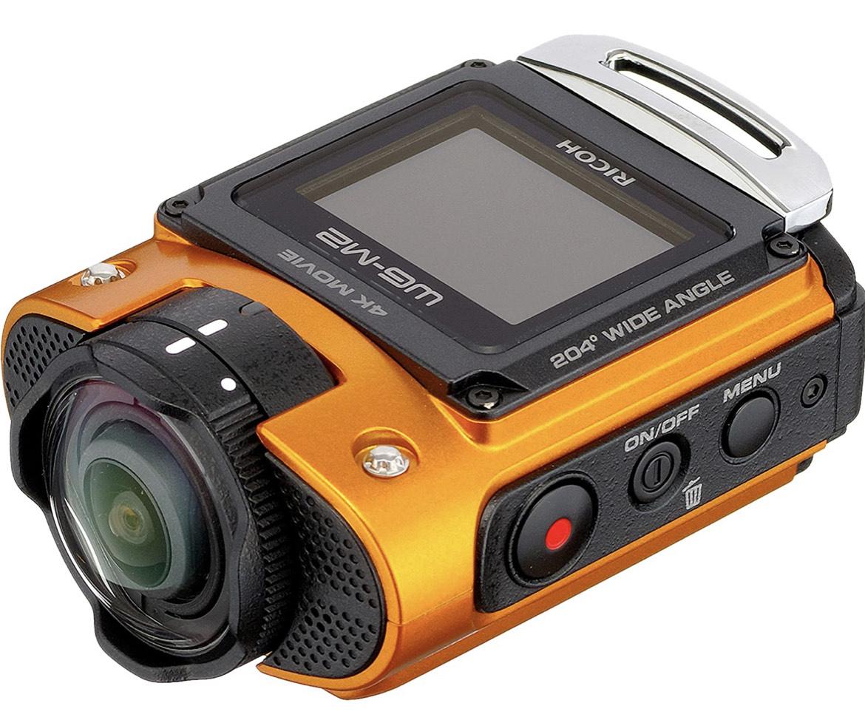"""Caméra d'action avec écran LCD 1.5"""" Ricoh WG-M2 - étanche, 8 Mpix, Wi-Fi, Orange"""