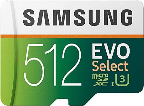 Carte microSDXC Samsung Evo Select U3 - 512 Go + Adaptateur SD (Frais d'importation inclus)