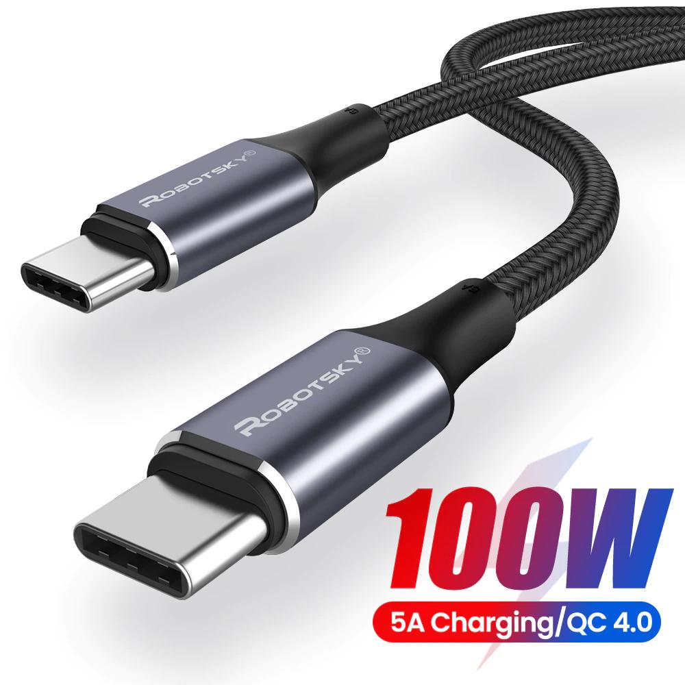 [Nouveaux Clients] Câble USB-C vers USB-C Ranipobo 100W - 2m