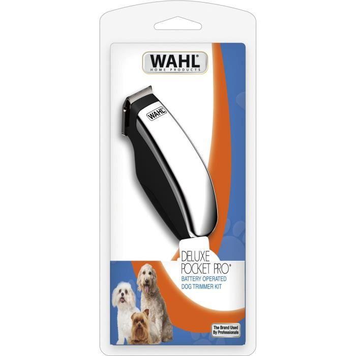 Tondeuse à poils d'animaux Wahl Deluxe Pocket Pro - 7 Pièces