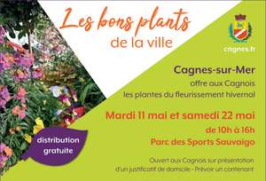 [Habitants] Distribution gratuite de plantes - Cagnes-sur-Mer (06)