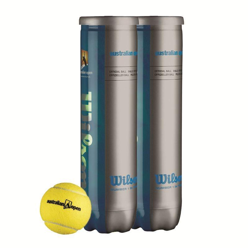 2 tubes de 4 balles de tennis Wilson Australian Open